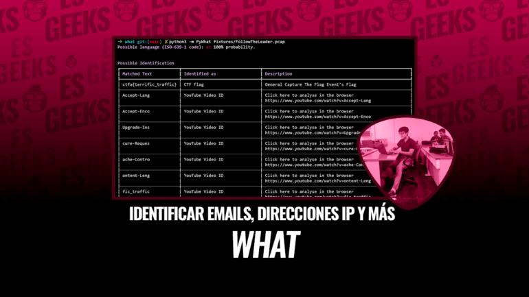 pyWhat Identifica Cualquier Cosa Emails, Dirección IP y Más