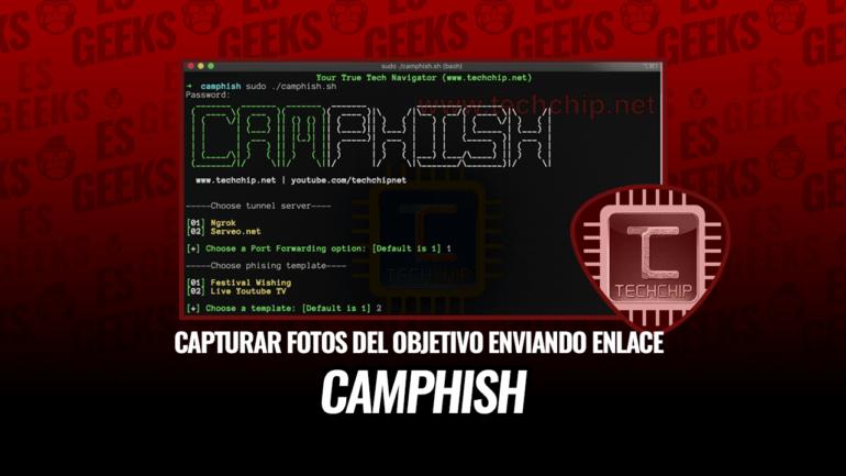 CamPhish Capturar Fotos de Cámara del Objetivo Enviando un Enlace