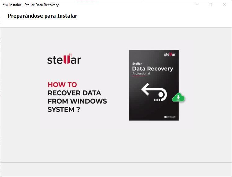 Instalación de Stellar Data Recovery