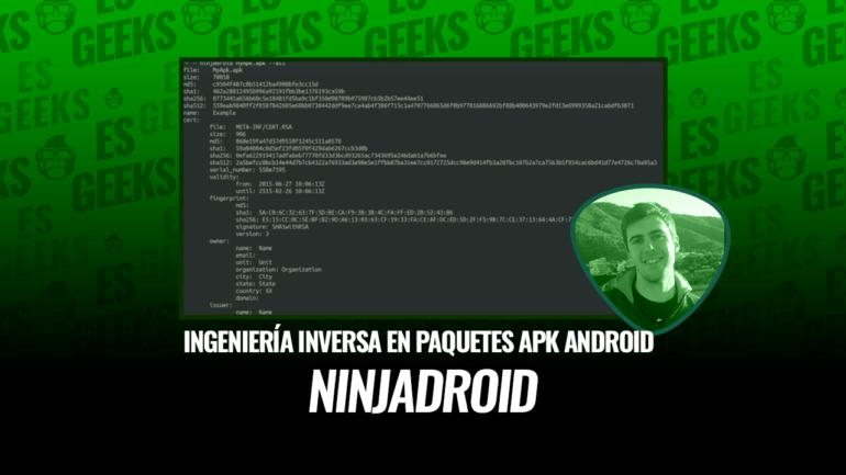 NinjaDroid Ingeniería Inversa en Paquetes APK de Android
