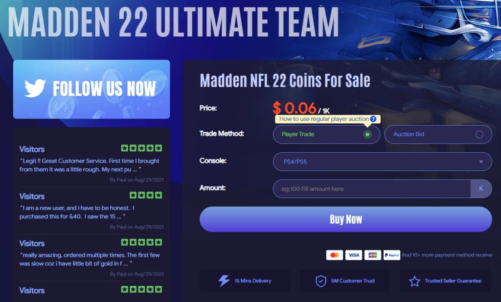 Comprar monedas Madden NFL 22 con MMOEXP