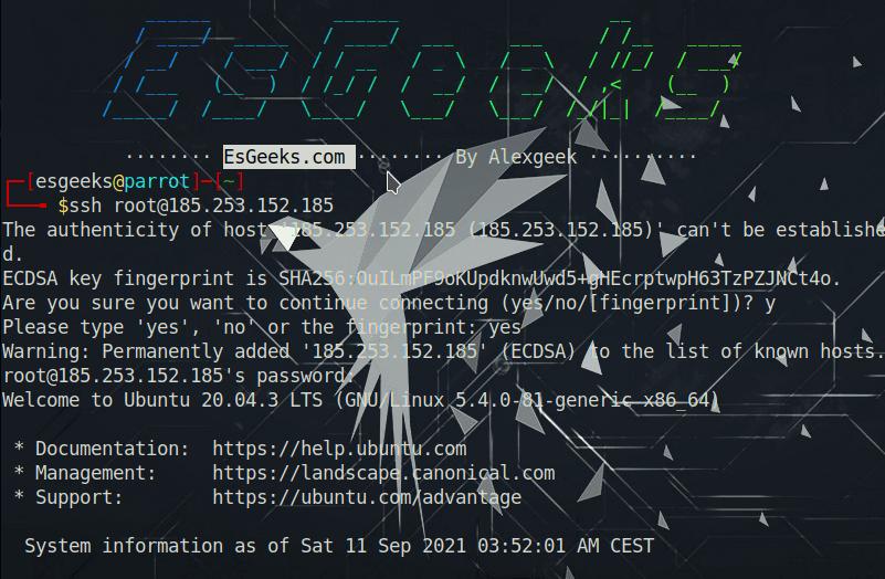 Conectar a SSH desde Linux