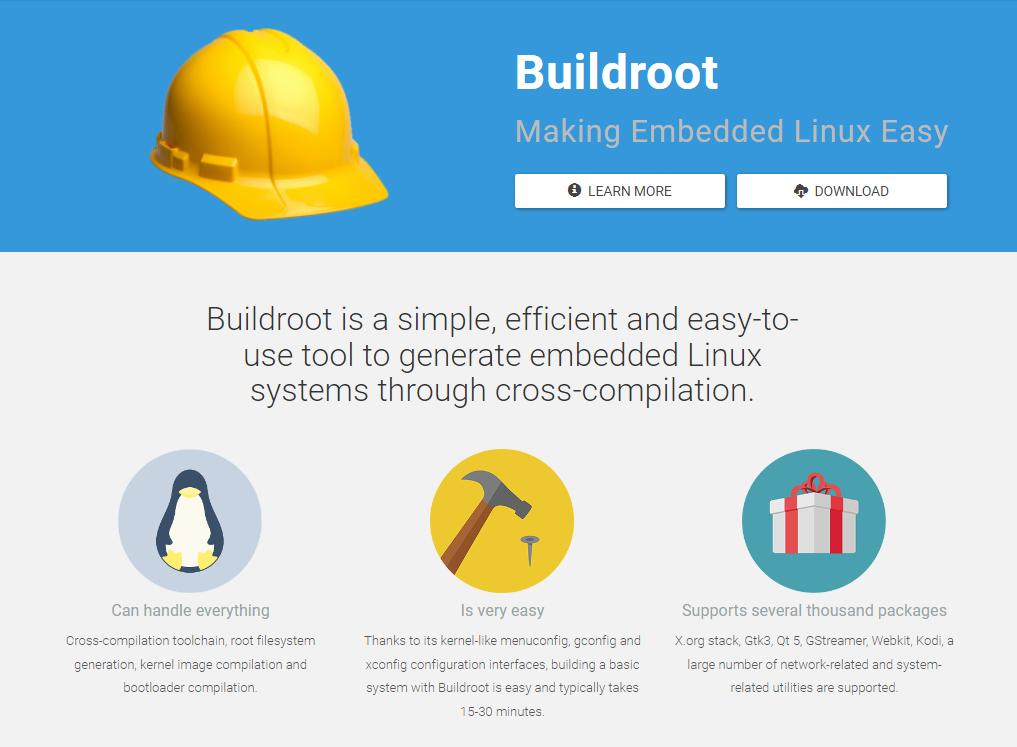 Web oficial de Buildroot
